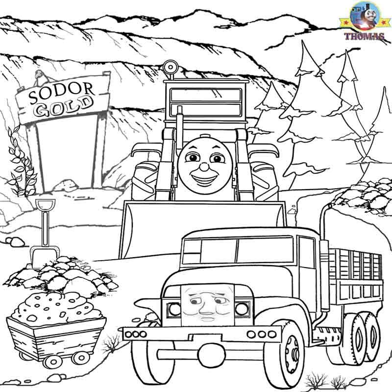 kids coloring pages scenery hill - photo#38