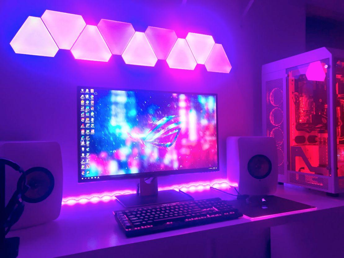 Too Cool Game Room Lighting Nanoleaf Lights Game Room Design
