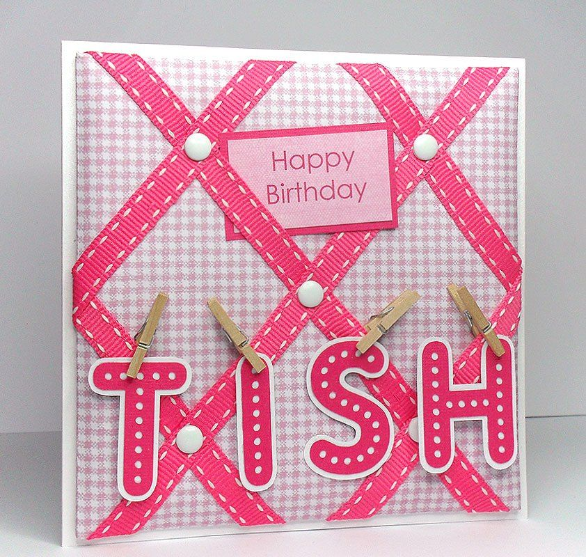 free tutorial for making this pin board card could easily be a mum card