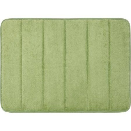Cloud 9 Memory Foam Bath Mat 19 5 Inchx36 Inch Green Bathroom