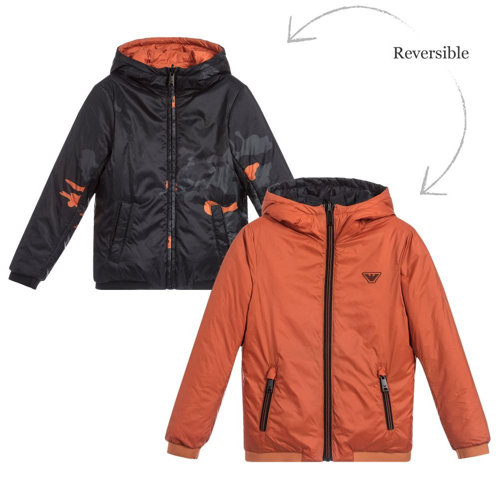 198c4bece5a2 brand Boys Reversible Hooded Jacket at Childrensalon.com