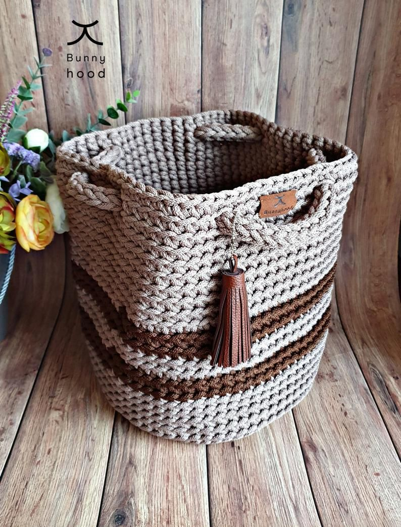 Crochet handbag Dew Drop / shopping bag / beach bag / large bag