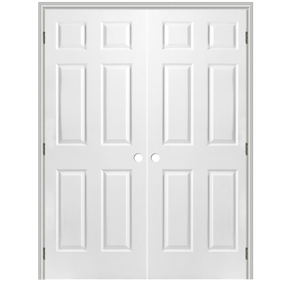 Reliabilt Prehung Hollow Core 6 Panel Interior Door Common 30 In X