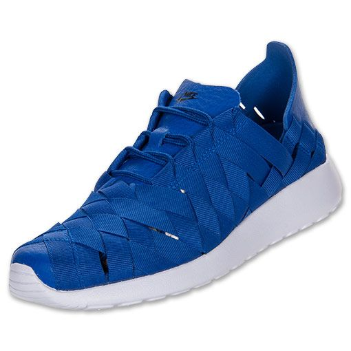check out 58b4b 65c08 Women s Nike Roshe Run Woven Casual Shoes   FinishLine.com   Hyper Blue Pure  Violet Black