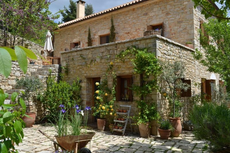 Traditional Greek Houses traditional stone house in peloponnese greece - argos villas