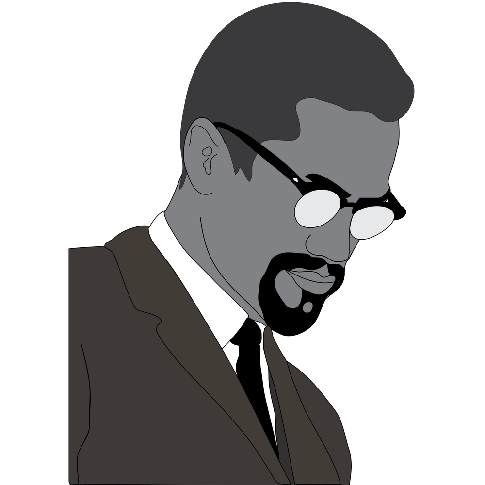 Malcolm X By Any Means Poster Print Case Sticker By Prod By Aaronp White 3 X3 In 2021 Malcolm X Illustration Print Art Prints