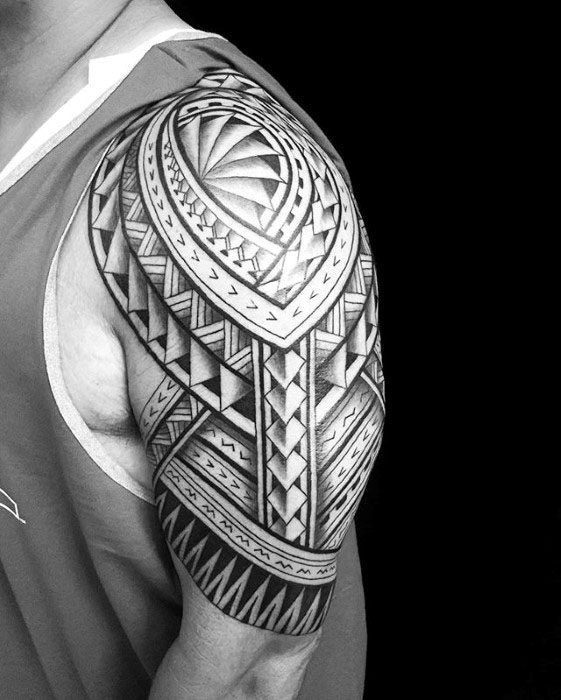 50 Polynesian Half Sleeve Tattoo Designs For Men Tribal Ideas Half Sleeve Tattoos Designs Tattoo Sleeve Designs Tattoo Sleeve Men