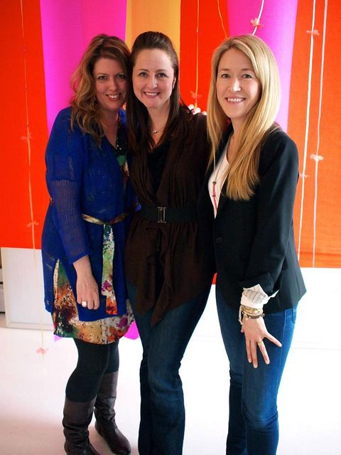 me, susan and leslie at our BYW Road Trip workshop in NYC by decor8, via Flickr