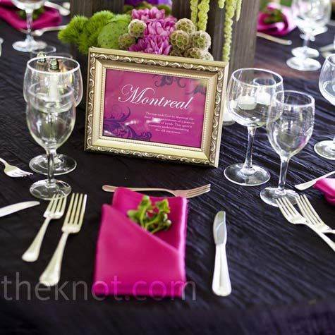 Table Themes Instead Of Numbers One For Each Jill Aaron S Travels Include