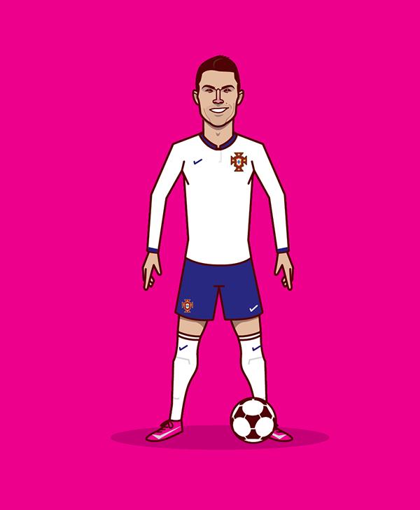ESPN Ronaldo data website on Behance