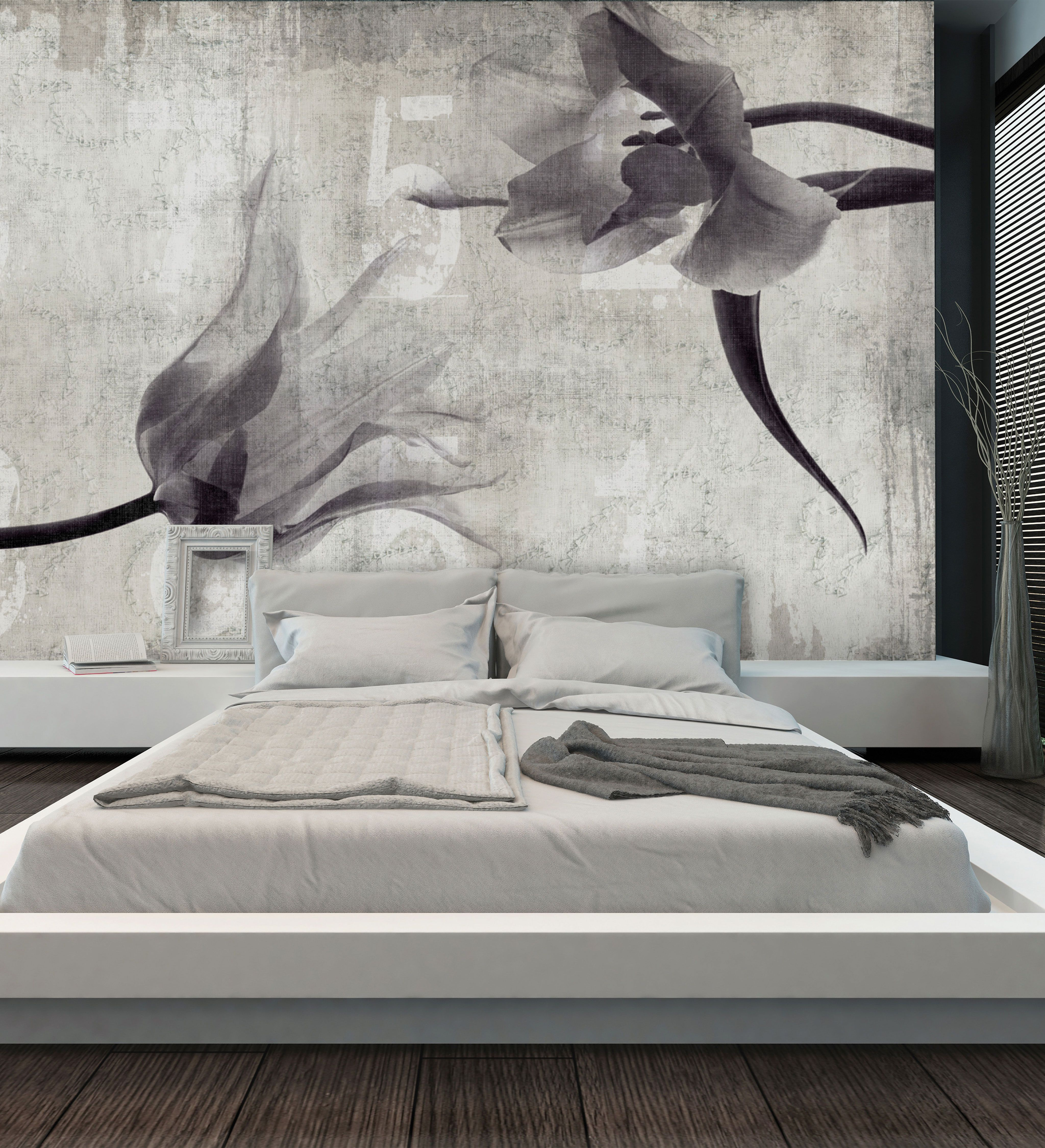 Panoramic wallpaper FLOWER IN LOVE Canvas Collection by N.O.W. Edizioni