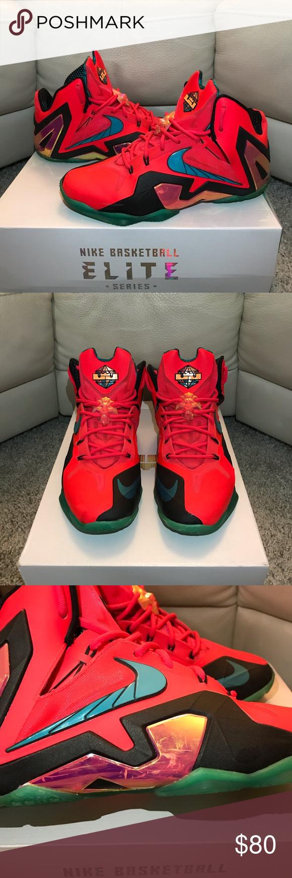"huge discount cc338 d26e1 Nike LeBron XI Elite ""Hero"" Nike LeBron 11 Elite Laser Crimson Turbo Green"