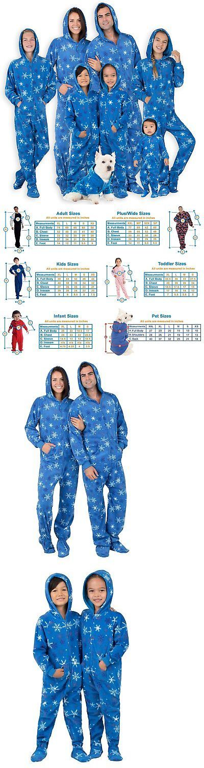 Sleepwear 163400  Footed Pajamas Family Matching Its A Snow Day Kids Hoodie  Fleece - Medium -  BUY IT NOW ONLY   44.28 on eBay! d6945a6f4
