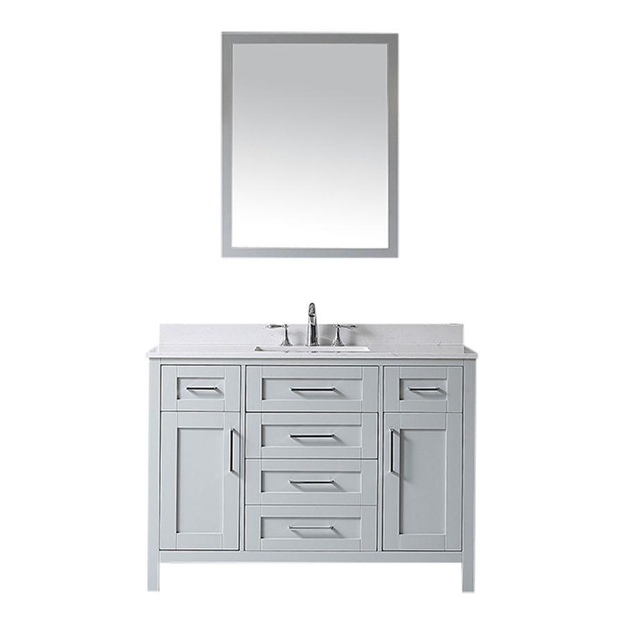 Ove Decors Tahoe Dove Grey Undermount Single Sink Bathroom Vanity With Cultured Marble Top Common 48 In Marble Vanity Tops Single Sink Bathroom Vanity Vanity