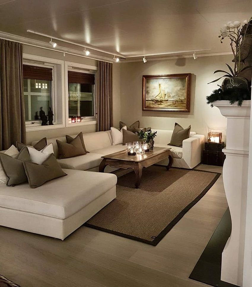 ♡♡ @PrincessNedji ♡♡  Beige living rooms, Elegant living room