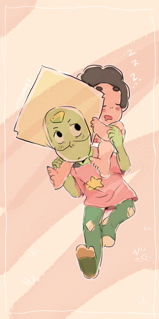 PERIDOT AND BABY STEVEN by Stick2mate on DeviantArt
