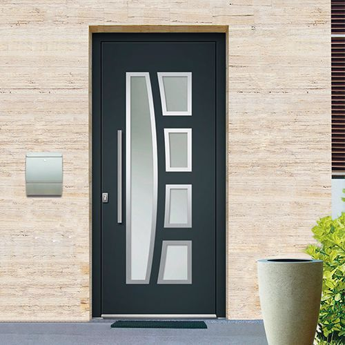 Porte DEntre Monobloc Aluminium Emalu Maine Disponible En Gris Ou