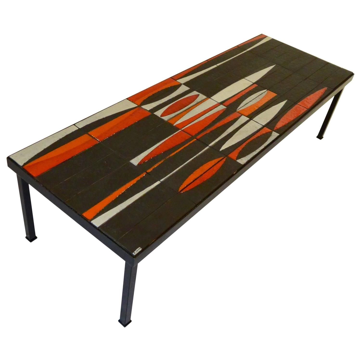 Iconic Coffee Table 'Navette' By Roger Capron, Circa 1950