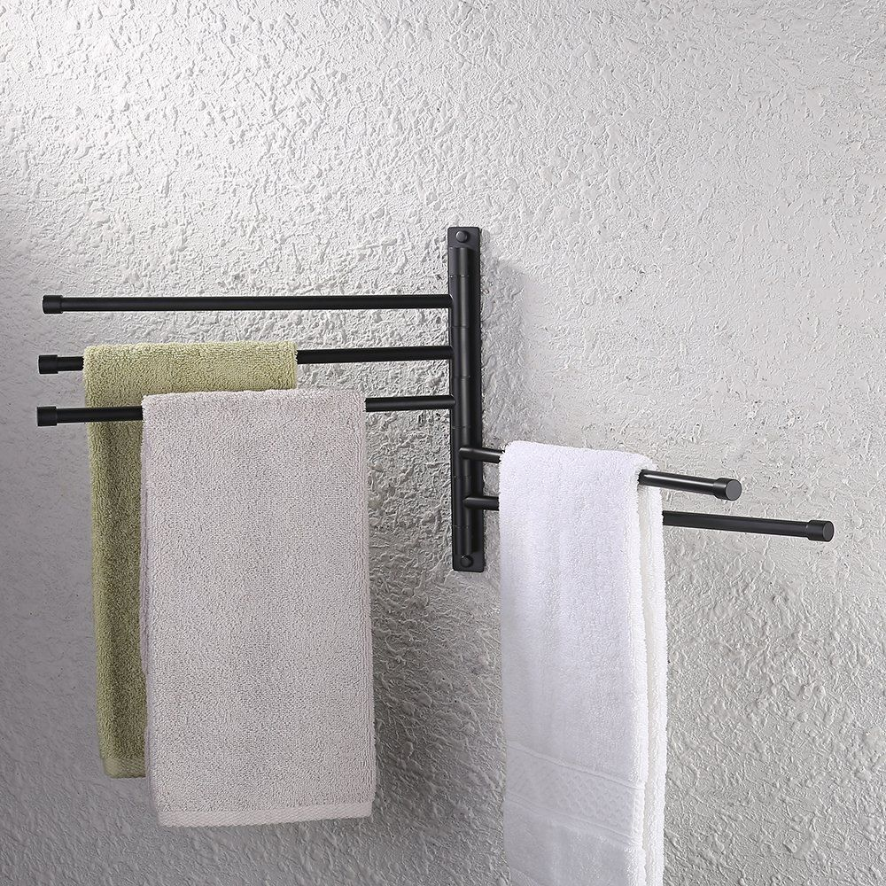 KES Bath Towel Holder Swing Out Towel Bar SUS 304 Stainless Steel ...