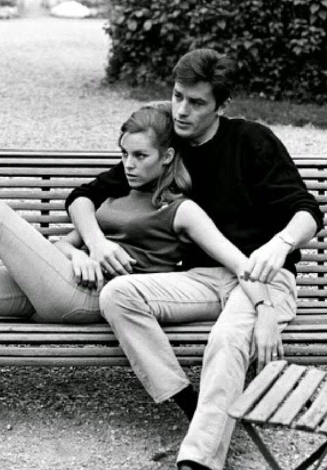 Alain Delon And Nathalie Delon Alain Delon Cute Couples Couple Photography