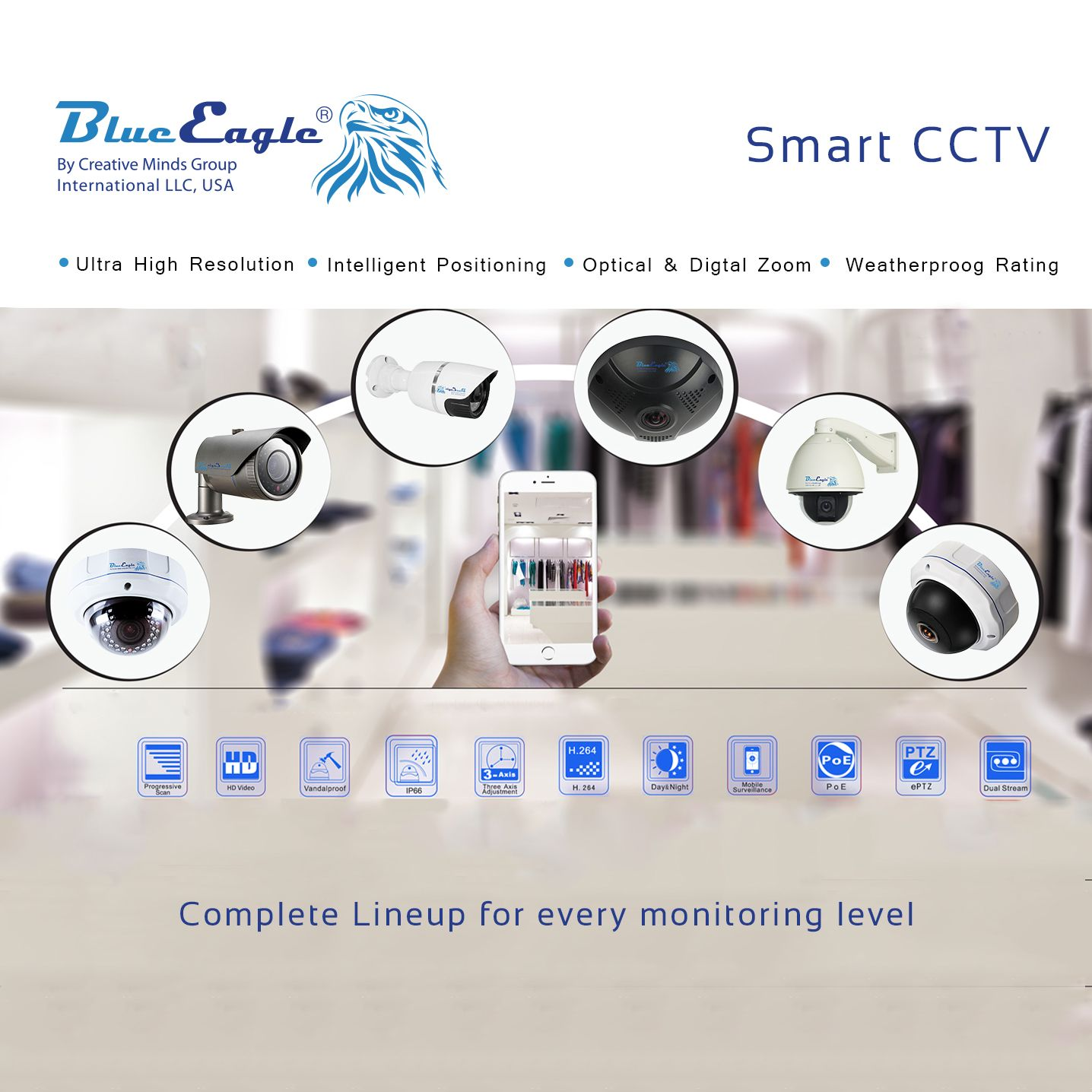 Smart CCTV Complete lineup for every monitoring level security