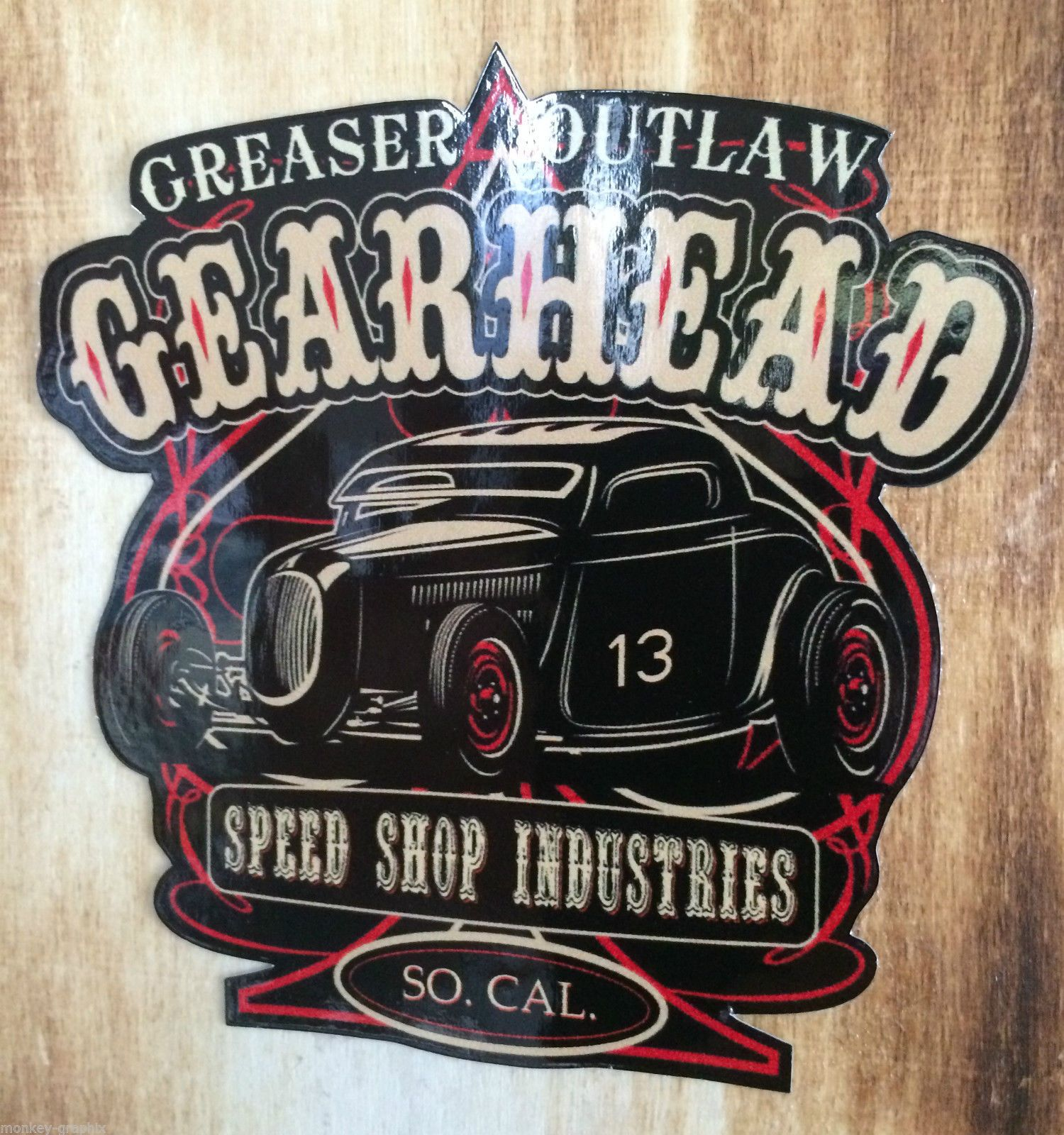Details Zu Hotrod Us Car Oldschool Aufkleber Gearhead Rockabilly
