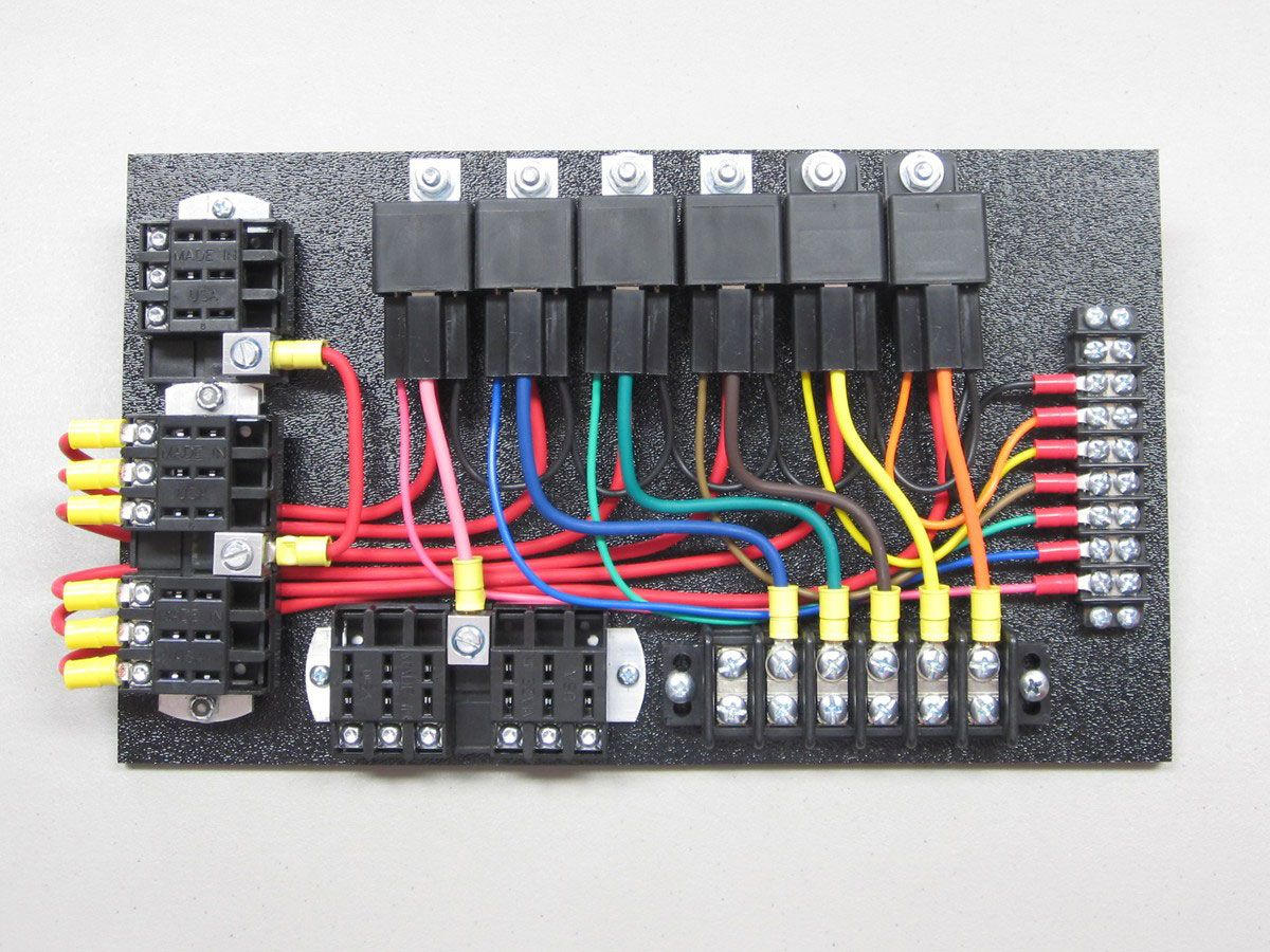 hight resolution of 6 relay panel relays in sockets with switched fuse panel