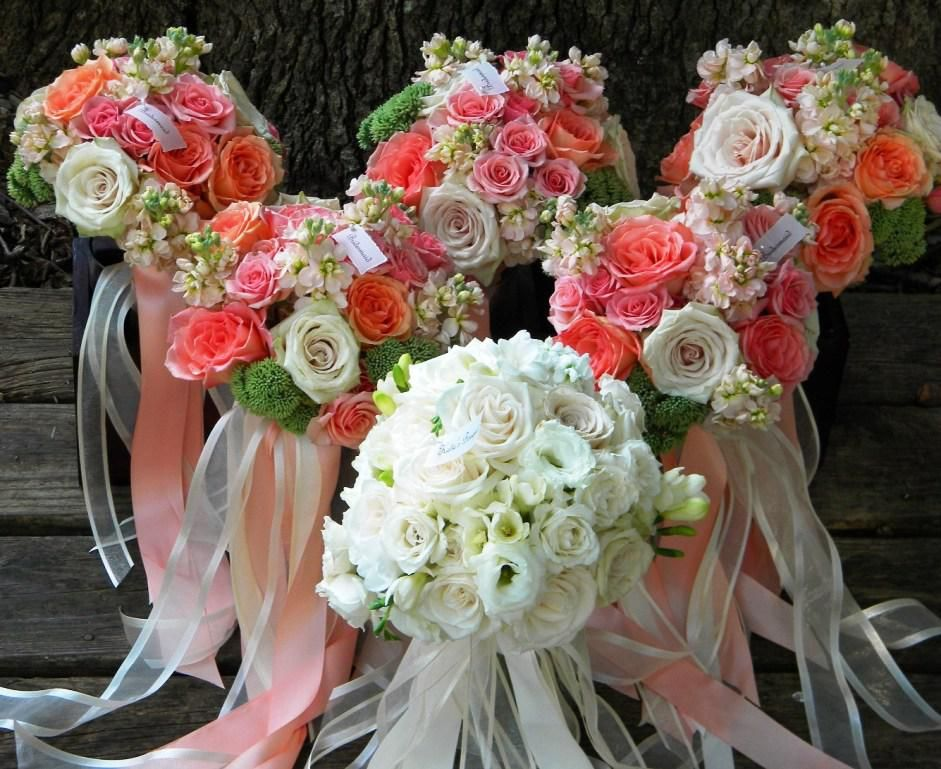 coral flower arrangements for wedding coral wedding flower arrangements