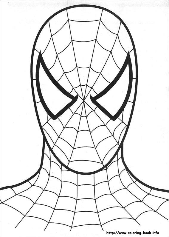 Spiderman Coloring Picture Spiderman Maleboger Kunst For Born