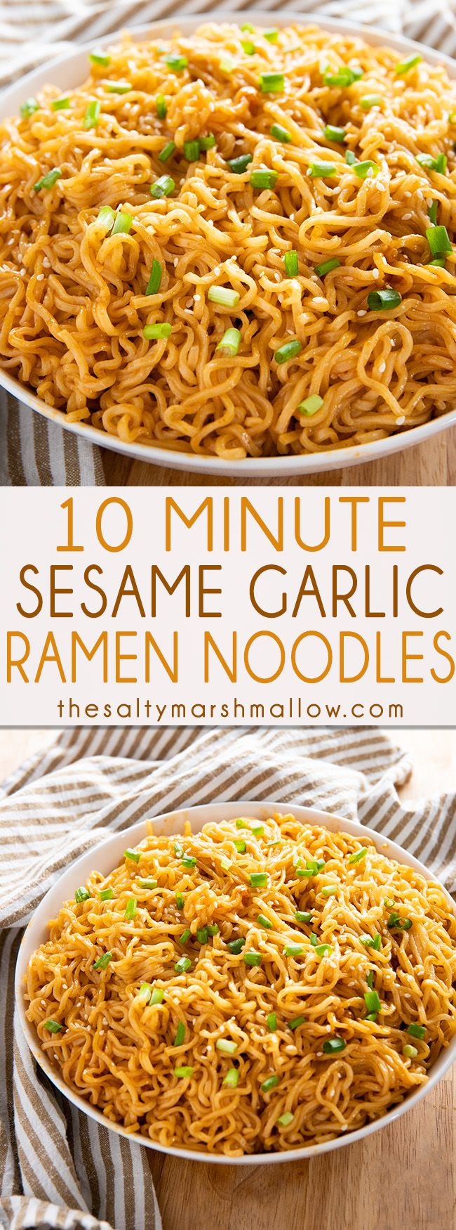 Photo of Sesame Garlic Ramen Noodles – The Salty Marshmallow