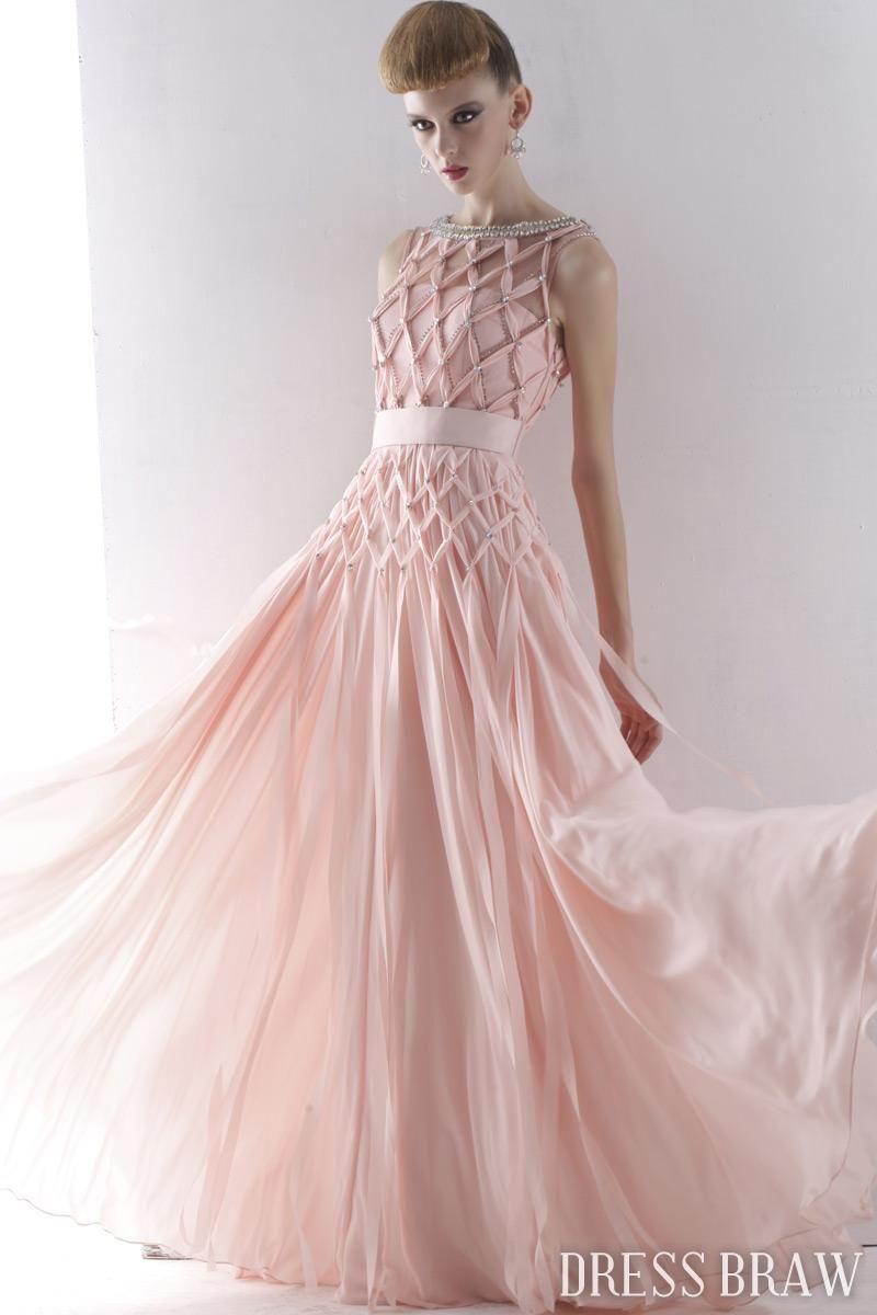 Fantastic Empire Jewel Floor-Length Bush Ruched Evening Dress: Dressbraw.com   Oh my goodness! I love this!