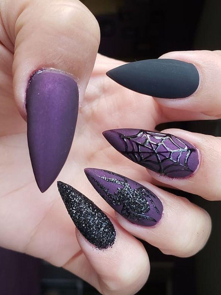 Halloween Nails. Spider Nails. | Halloween nails ...