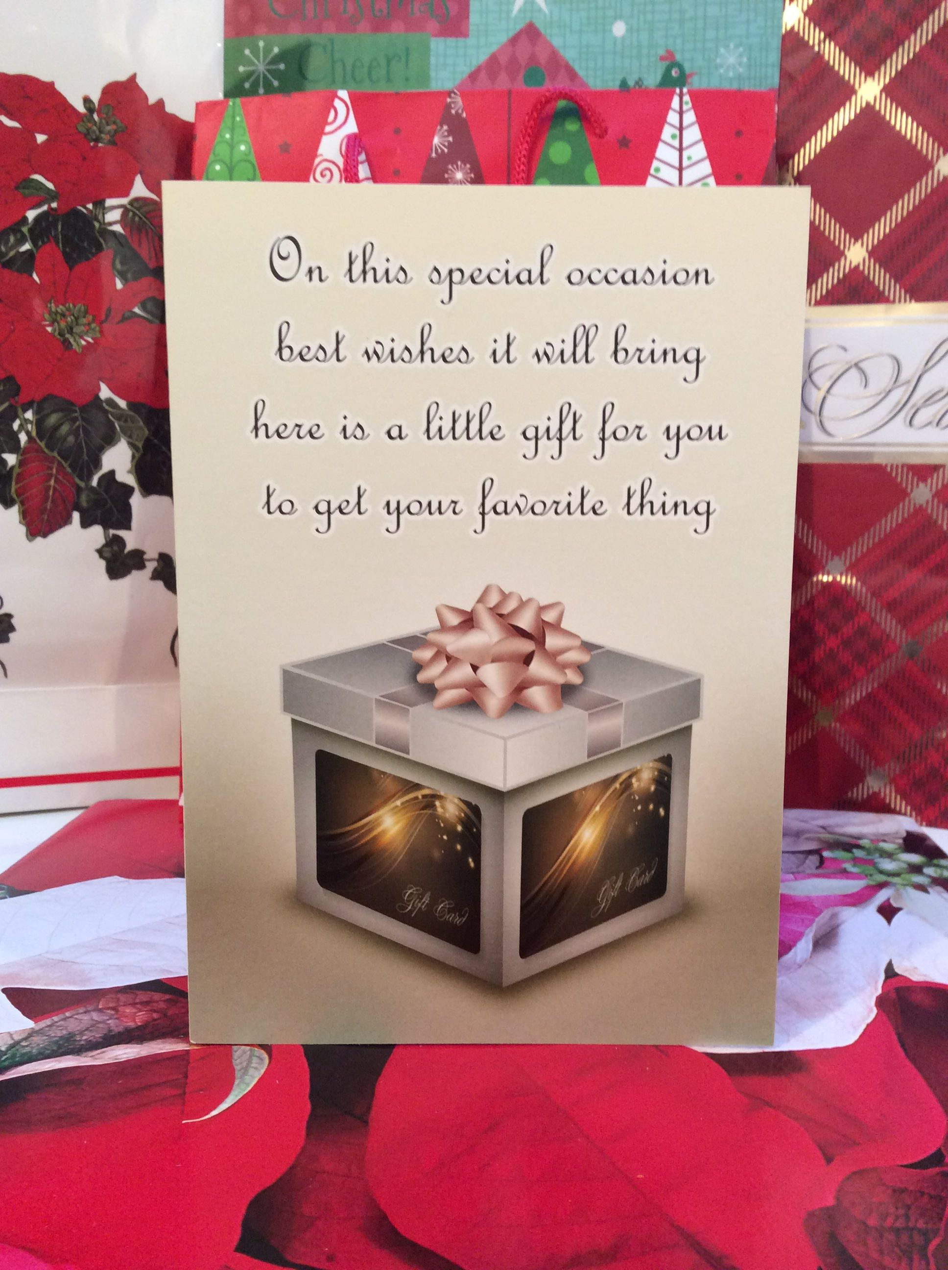General Gift Card Holder Set Of 4 Birthday Gift Card Holder