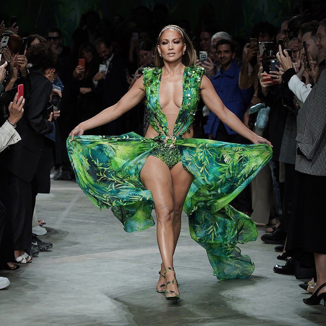 Fashion Week On Instagram The Dress And Face That Literally Launched Google Images Jlo First Wore The Jungle Dress By Jungle Dress Fashion Fashion Week [ 1080 x 1080 Pixel ]