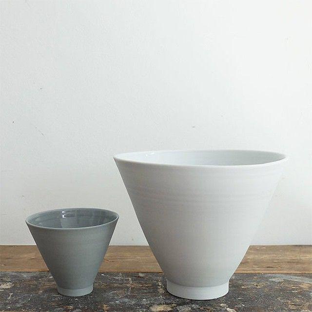 Stemmed bowls by Derek Wilson.