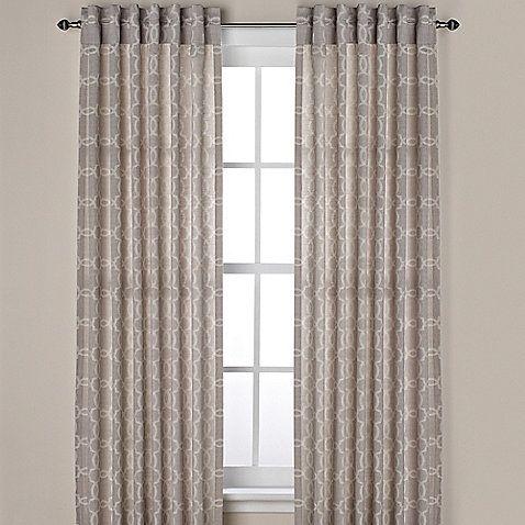 Westport Geo Rod Pocket Window Curtain Panels And Valance Panel