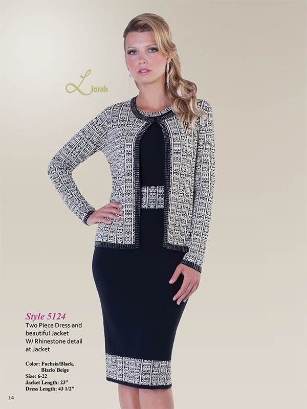 Liorah Knits 5124 Black Womens Knit Suits Let S Go To Church