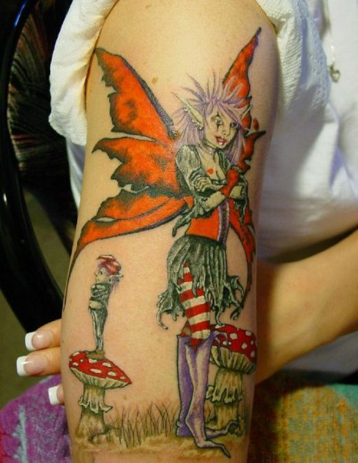 2664de1e0e726 Naughty Fairy   Tattoos   Fairy tattoo designs, Tattoos, 3d tattoos