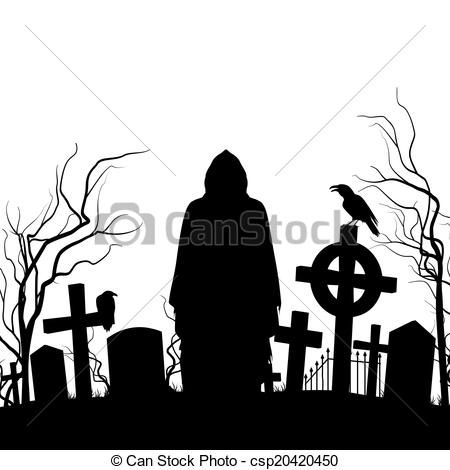 vector cemetery stock illustration royalty free illustrations rh pinterest co uk cemetery clipart black and white halloween cemetery clipart