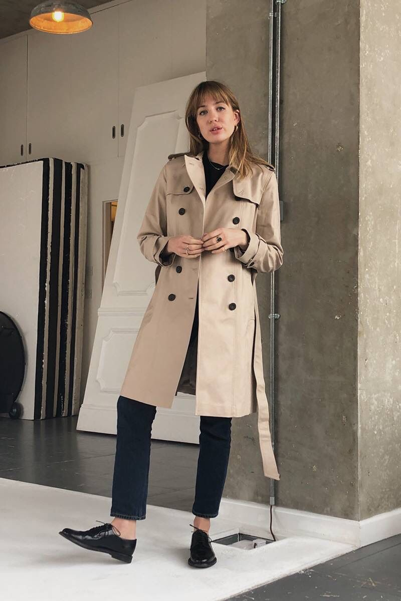 Wool Saskia Trench Coat
