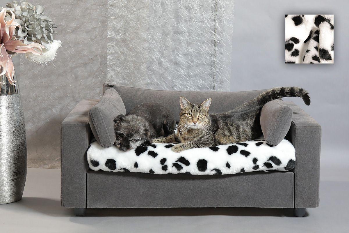 Canap pour chat et chien housse 100 amovible lavable - Plaids fausse fourrure pour canape ...