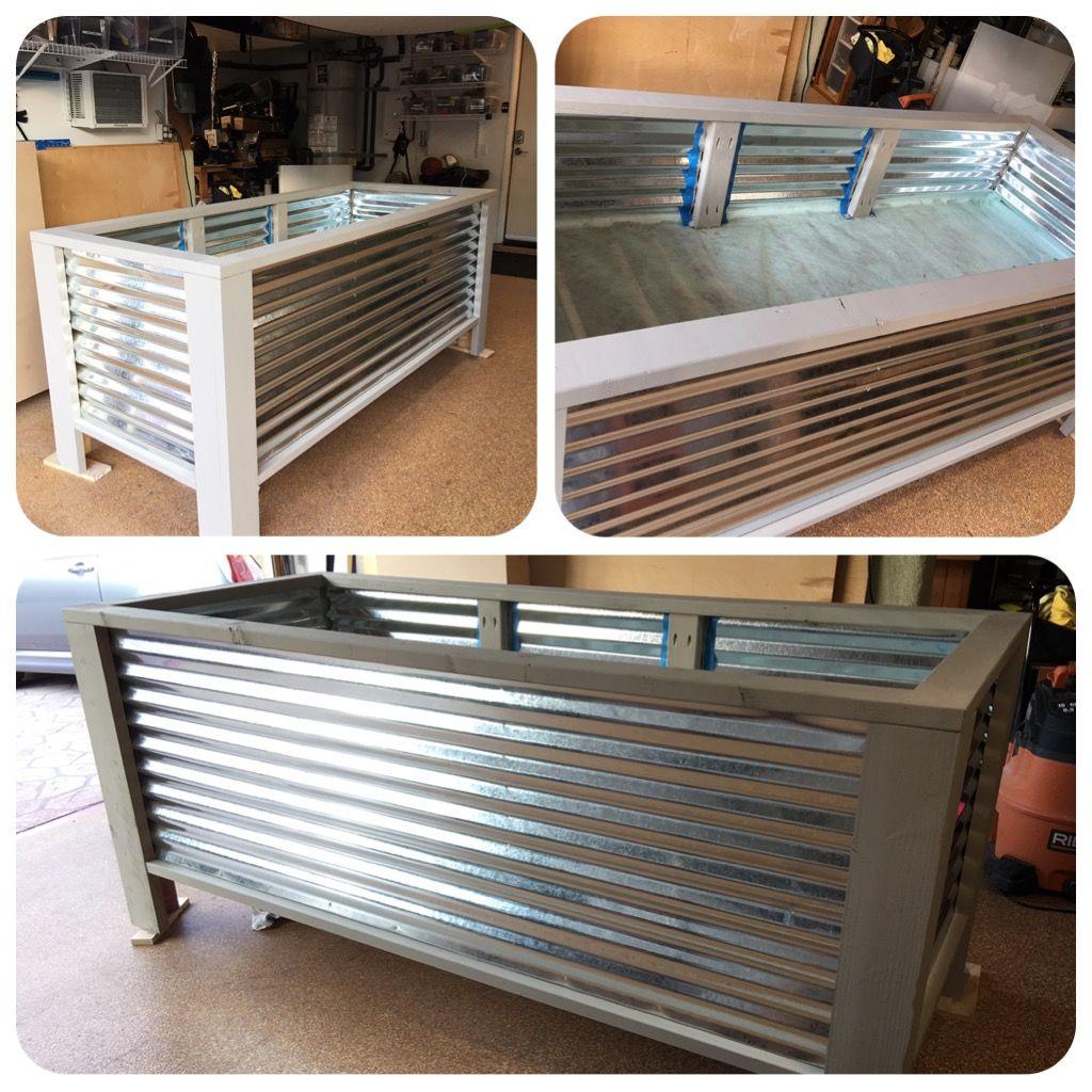 Corrugated Metal Planter Boxes DIY