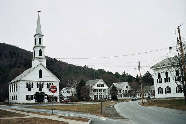 Newfane, Vermont, has the most picturesque town center.
