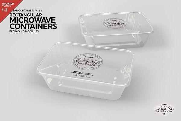 Free Psd Mockup Microwave Containers Packagingmockup Psd Mockup Clear Container Packaging Mockup Food Mockup