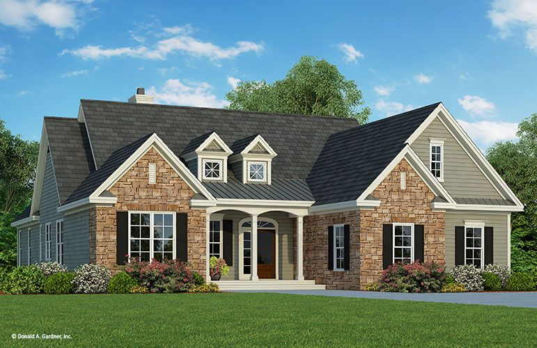 Home Plan The Wilton By Donald A Gardner Architects Country Style House Plans Country House Plans Craftsman House Plans