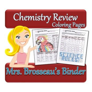 Chemistry Review Coloring Pages - Editable Chemistry, Atomic - new periodic table atomic number and names