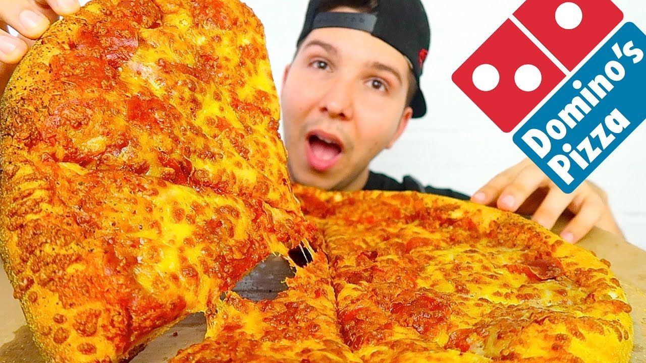 Giant Pizza Mukbang Dominos Pizza Pizza Giant Pizza