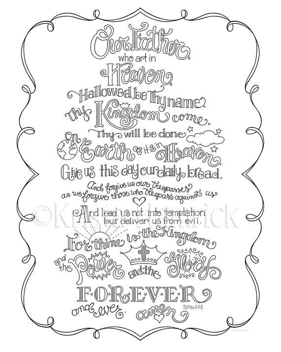 The Lord's Prayer Memory Coloring Collection/ Includes 9