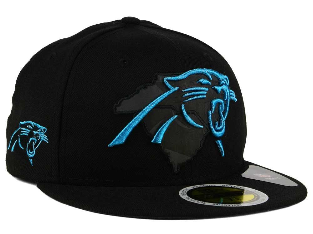 new styles 64802 c2a2a Carolina Panthers New Era NFL State Flective Metallic ...