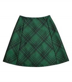 Jil Sander Navy Green Plaid Skirt - Shop our favorite looks from the August issue and get a free copy of Cameron Diaz's body book:http://shop.harpersbazaar.com/in-the-magazine/shop-the-issue/august-2014/